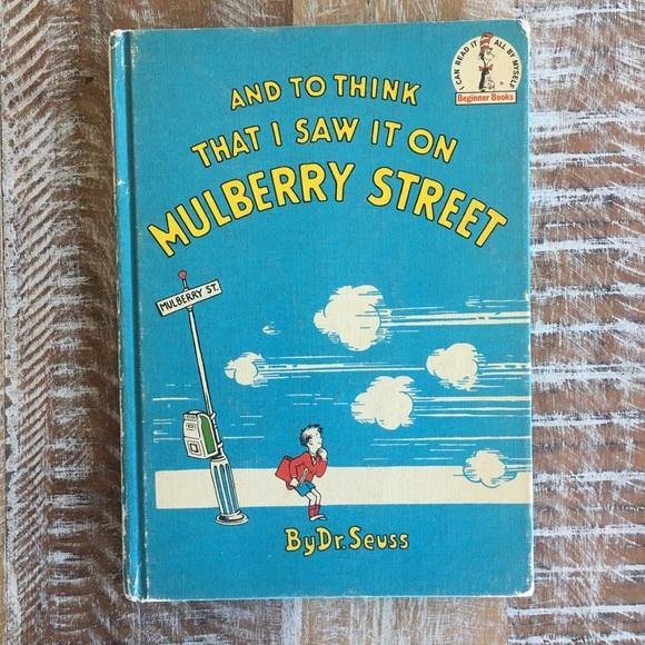 "*SOLD* Dr. Seuss ""Mulberry Street"" 1937 book"